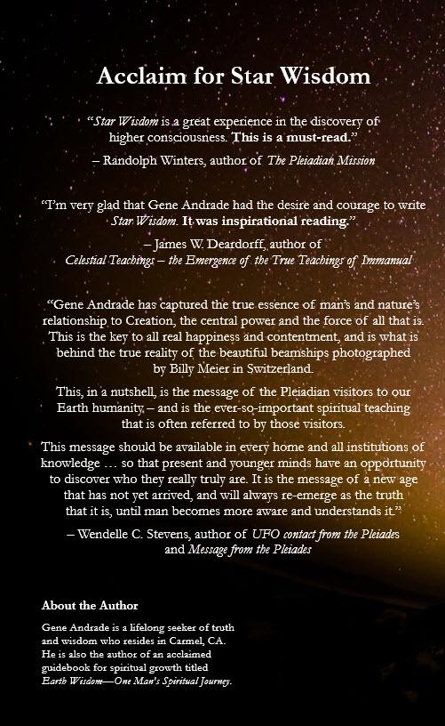 Star Wisdom Book Back Cover